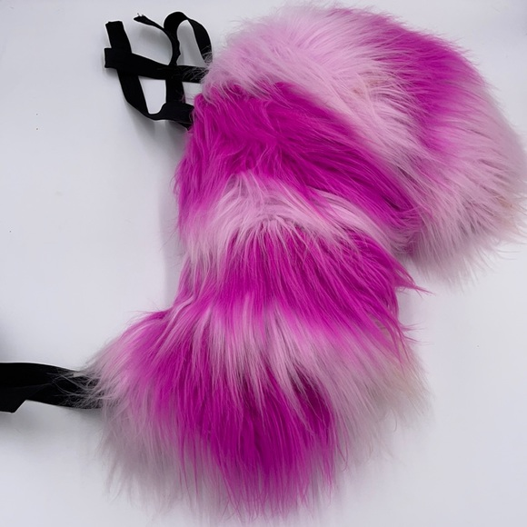 Disney Cheshire Cat Fluffy Fuzzy Tail Costume Cosplay Rave Concert